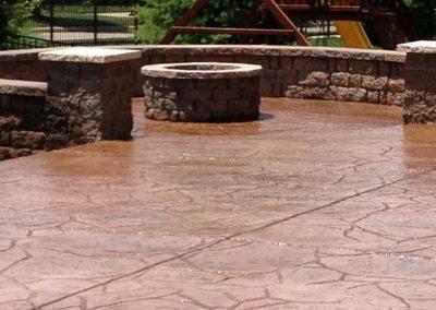 st louis concrete patio stamped